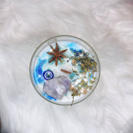 Evil Eye Candle - Lunar Libra-glass candle