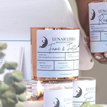 Fame and Fortune Candle - Lunar Libra-