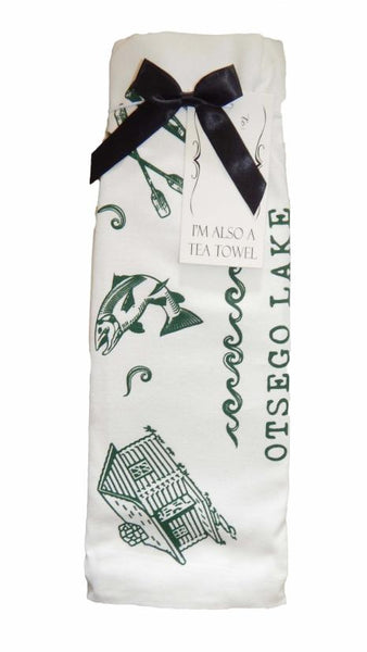 Otsego Lake Bottle Wrap/Tea Towel