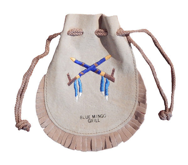 Blue Mingo Grill Leather Fringed Pouch