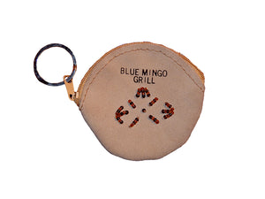 Blue Mingo Grill Leather Coin Purse