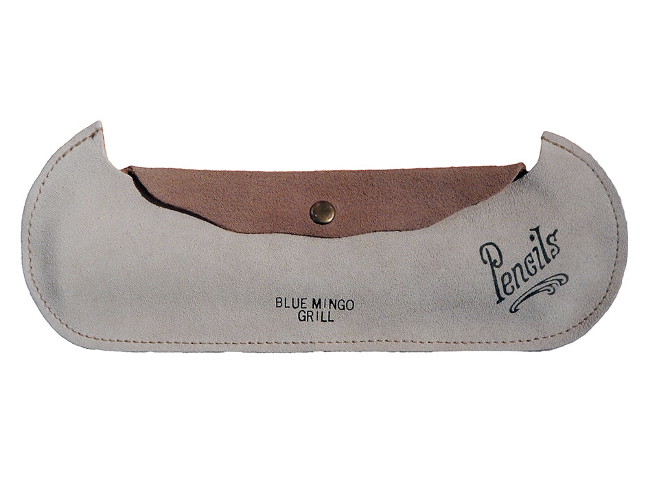 Blue Mingo Grill Leather Pencil Case