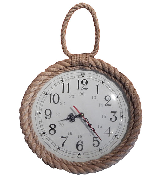 Jute Rope Trim Wall Clock