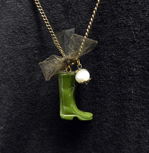 Rain Boot Necklace