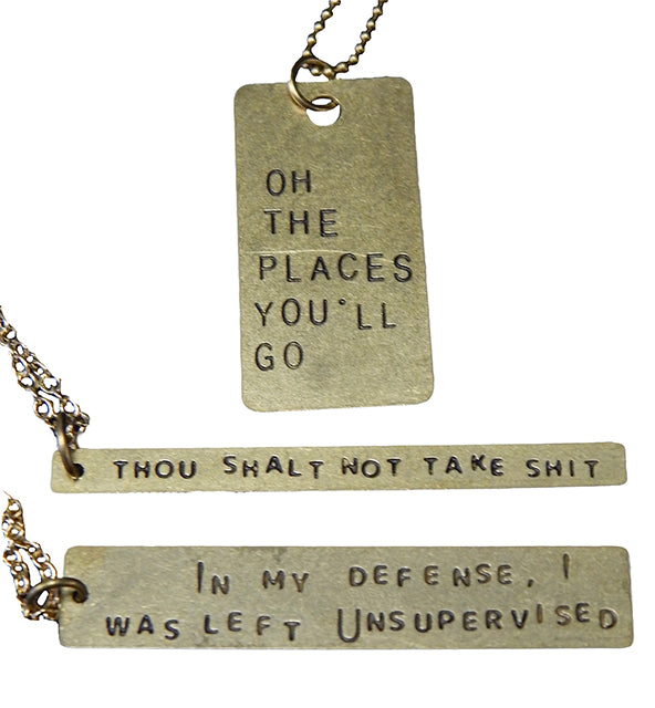 Snarky Sayings Necklace