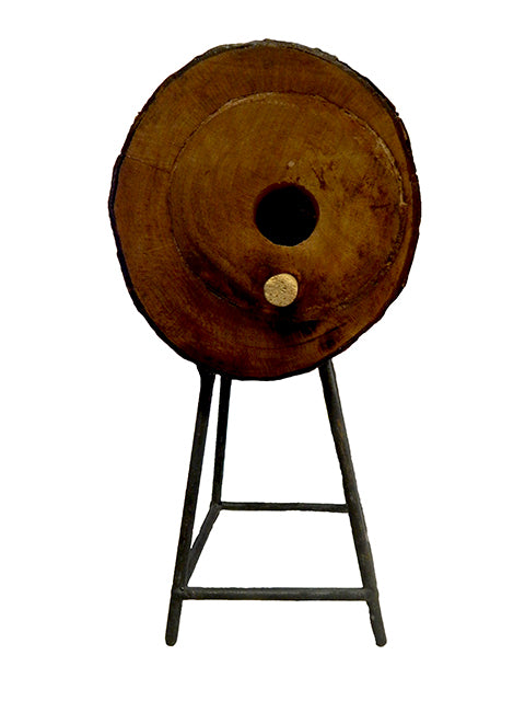 Decorative Wood Birdhouse with Metal Stand