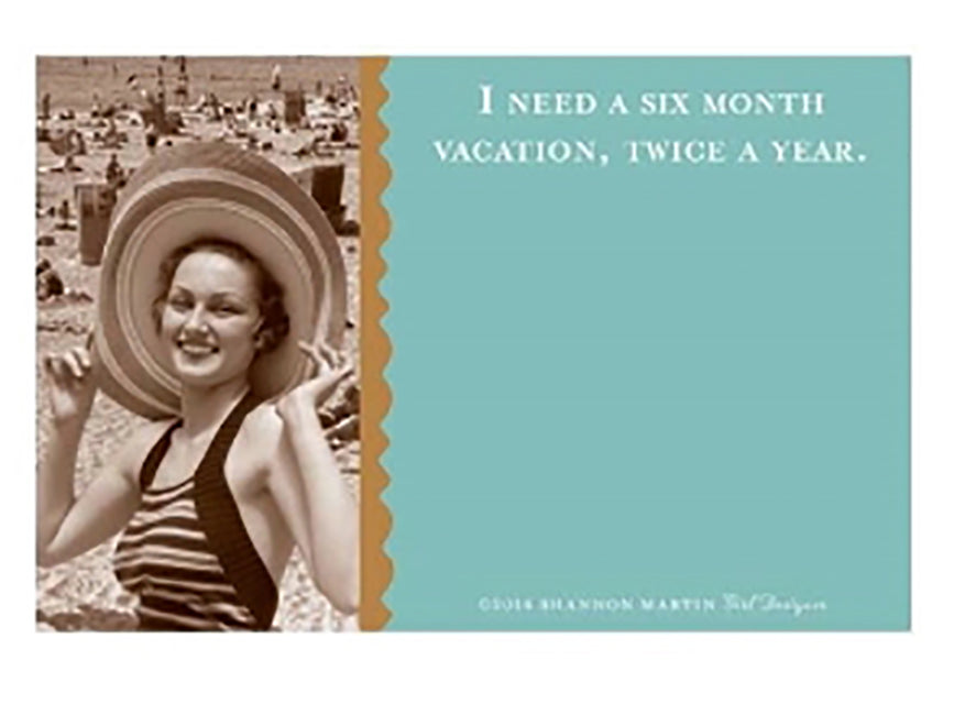 Six Month Vacation Sticky Notes