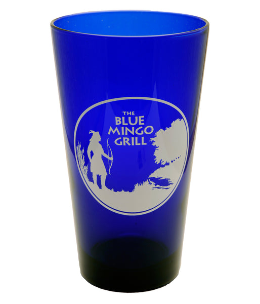 Cobalt Blue Mingo Pint Glass