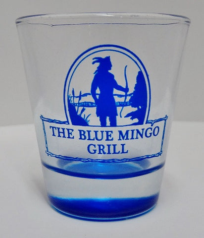 Blue Mingo Shot Glass