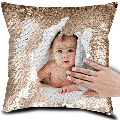 ProDIgal Mermaid Pillow Case Sequin Custom Picture Pillow Case Decorative Color Change Cushion Cover Sofa Bedroom Car Kids