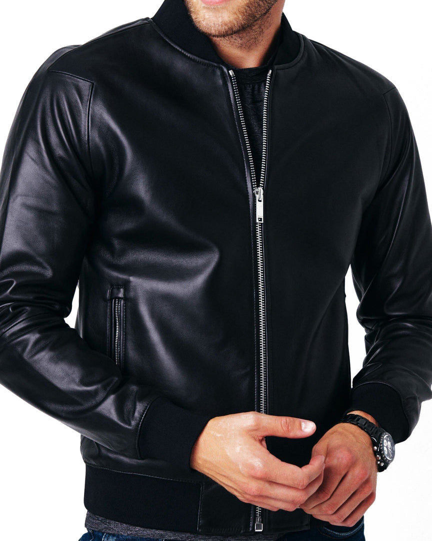 Front view of the CADOGAN ASPEN Bomber Jacket