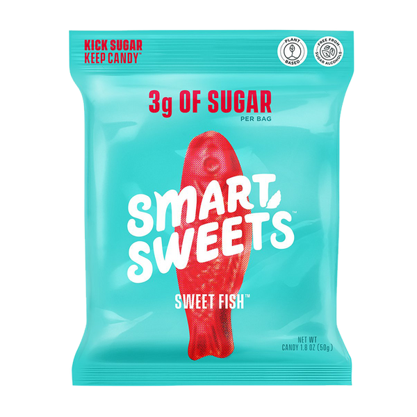 a bag of Smart Sweets Sweet Fish