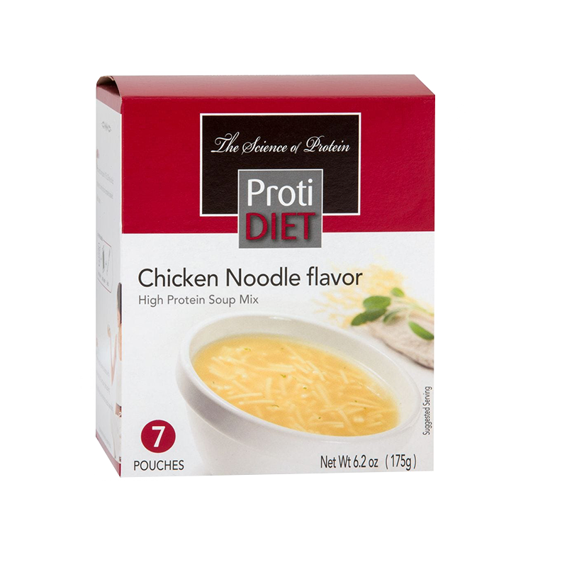 7 pack box of ProtiDiet Chicken Noodle Soup