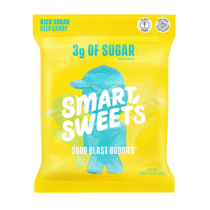 A bag of Smart Sweets Sour Blast Buddies