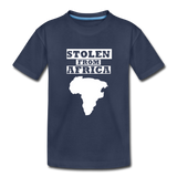 Stolen From Africa Kids' Premium T-Shirt - navy