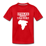 Stolen From Africa Kids' Premium T-Shirt - red