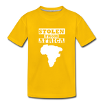 Stolen From Africa Kids' Premium T-Shirt - sun yellow