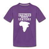 Stolen From Africa Kids' Premium T-Shirt - purple