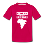 Stolen From Africa Kids' Premium T-Shirt - dark pink