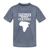 Stolen From Africa Kids' Premium T-Shirt - heather blue