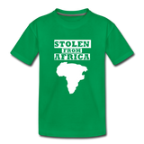 Stolen From Africa Kids' Premium T-Shirt - kelly green