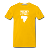 Stolen From Africa Men's Premium T-Shirt - sun yellow