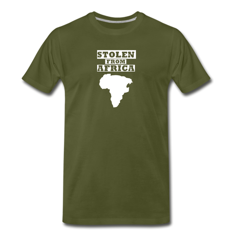 Stolen From Africa Men's Premium T-Shirt - olive green