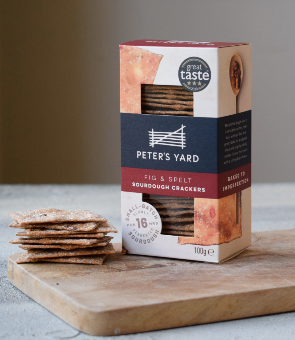 Peters Yard - Fig & Spelt Sourdough Crackers 100g