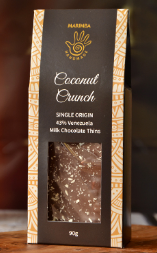 Coconut Crunch Chocolate Thins 90g