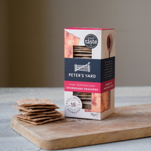 Load image into Gallery viewer, Peter's Yard - Pink Peppercorn Sourdough Crackers - 90g