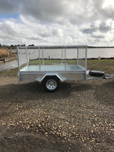 Load image into Gallery viewer, 8x5 Single Axle High Caged Tilt Trailer