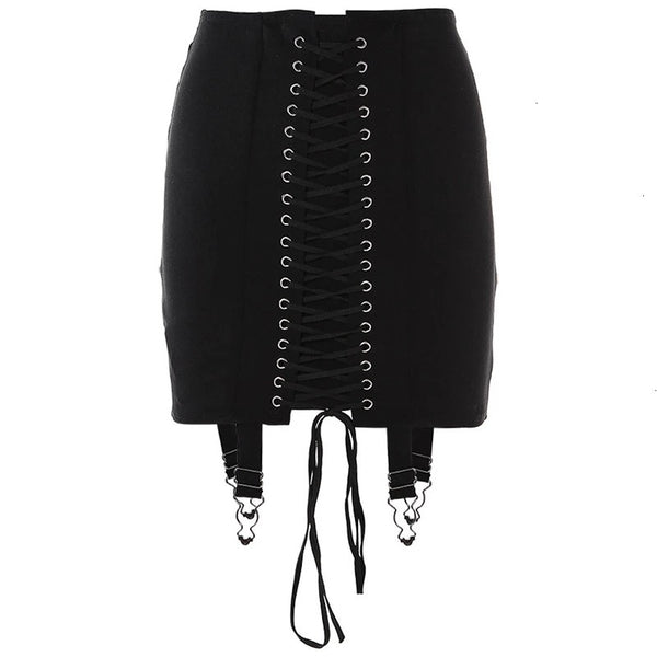 Bandage Skirt-Black