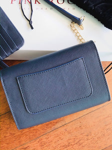 2IN1 BUNNY BAG + CARD HOLDER WALLET IN BLUE