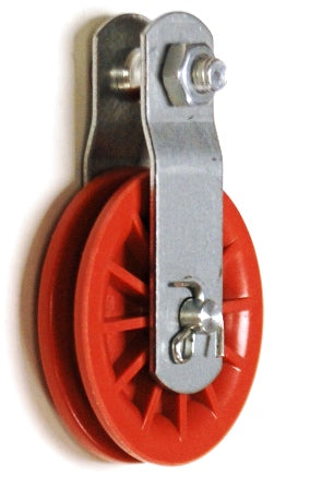 "2 1/2"" Red Nylon Composite Pulley"