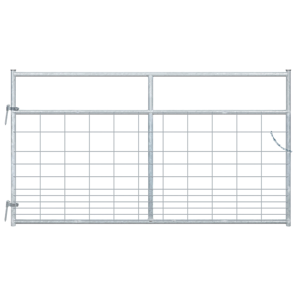 8' Pasture's Pride Galvanized High Tensile Steel Wire Mesh Gate
