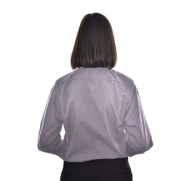 Woman's Clerical Long Sleeve Shirt - 1in Slip In Collar