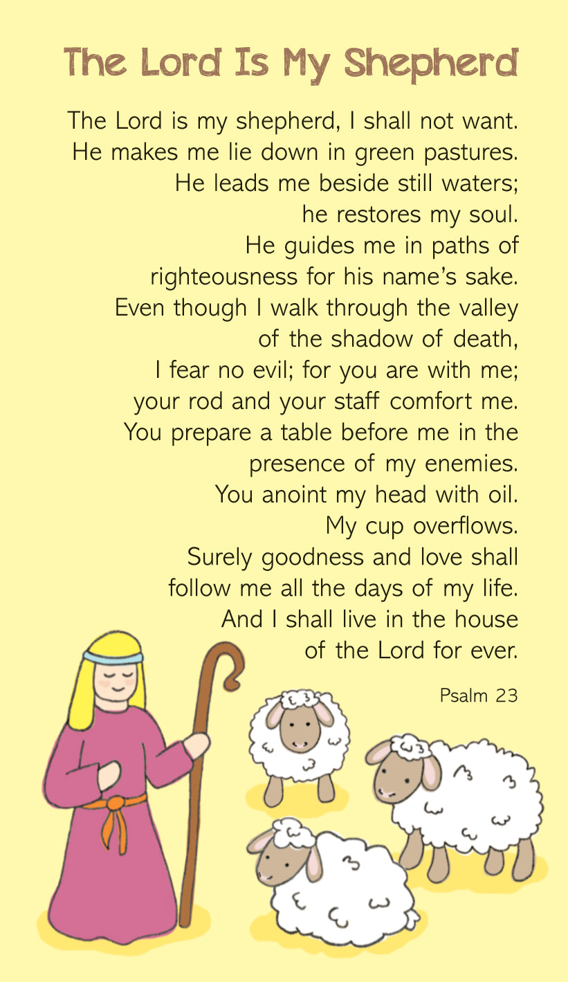 Prayer Card - The Lord Is My ShepherdPrayer Card - The Lord Is My Shepherd