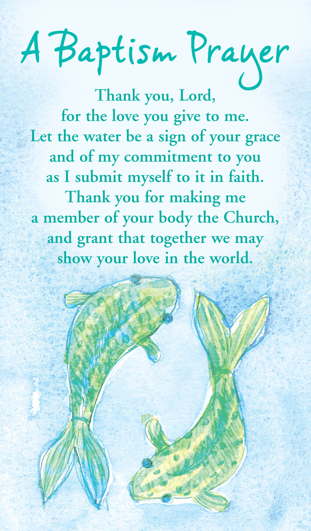 Prayer Card - Baptism PrayerPrayer Card - Baptism Prayer