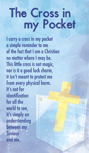The Cross In My Pocket - Prayer Card (Double Sided)The Cross In My Pocket - Prayer Card (Double Sided)