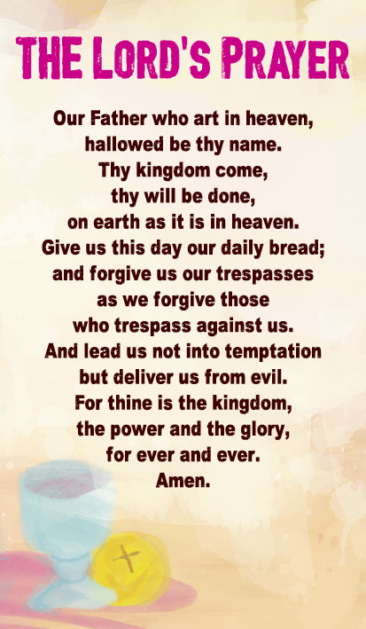 Lords Prayer - Prayer CardLords Prayer - Prayer Card