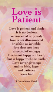 Love Is Patient - Prayer CardLove Is Patient - Prayer Card