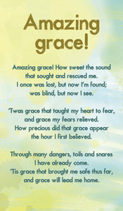 Amazing Grace - Hymn Card  (Double Sided)Amazing Grace - Hymn Card  (Double Sided)