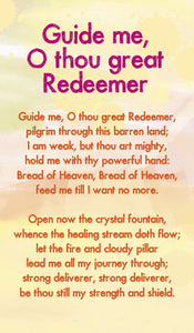 Guide Me, O Thou Great Redeemer - Hymn Card  (Double Sided)Guide Me, O Thou Great Redeemer - Hymn Card  (Double Sided)
