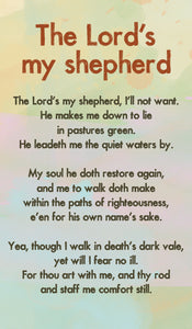 The Lords My Shepherd - Hymn Card  (Double Sided)The Lords My Shepherd - Hymn Card  (Double Sided)