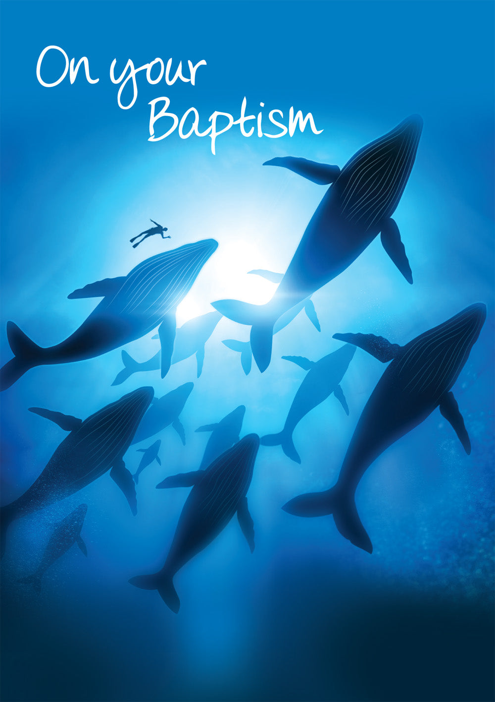 On Your Baptism - Whales (Adult)  -  Standard CardOn Your Baptism - Whales (Adult)  -  Standard Card