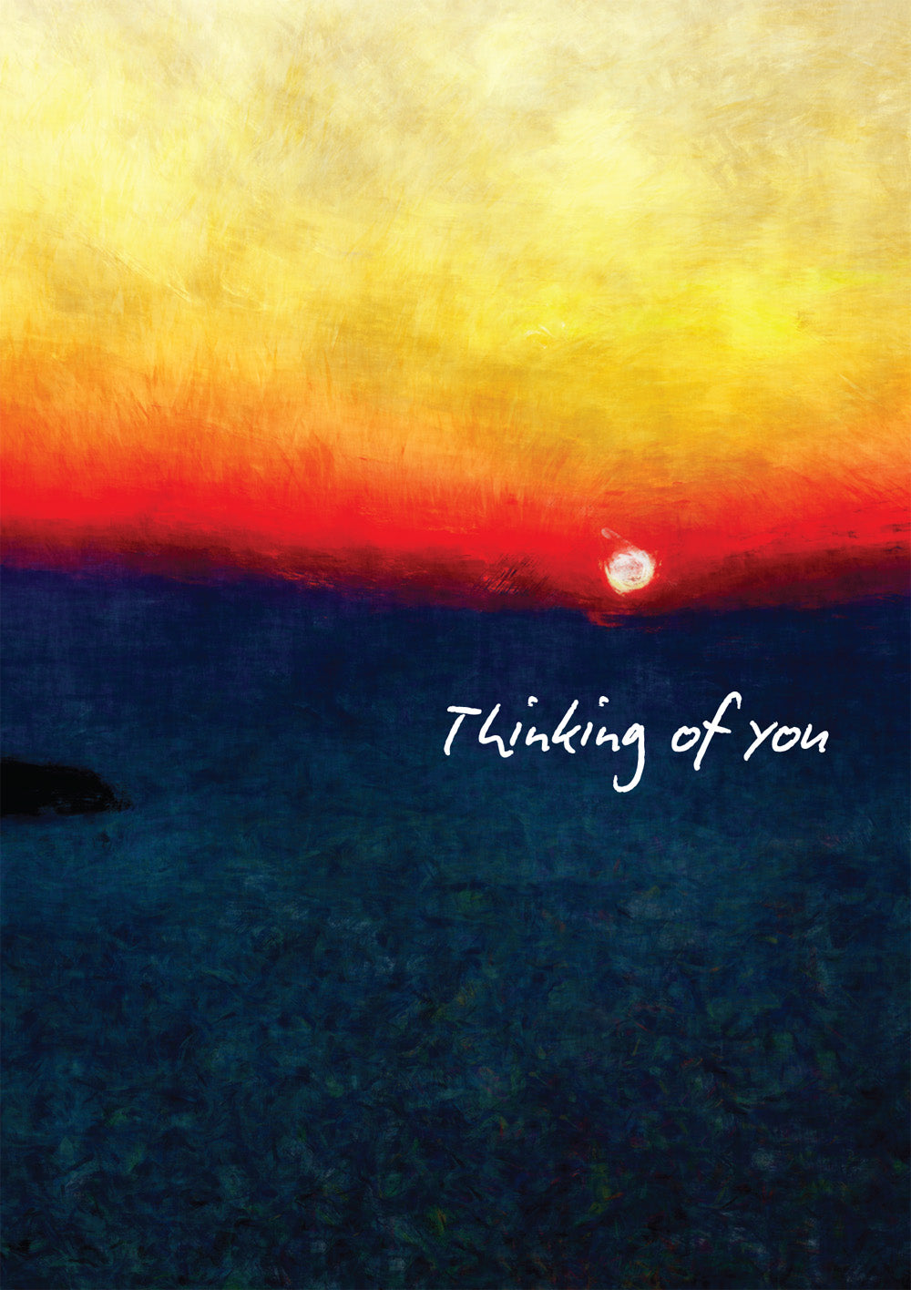 Thinking Of You  - Sun -  Standard CardThinking Of You  - Sun -  Standard Card
