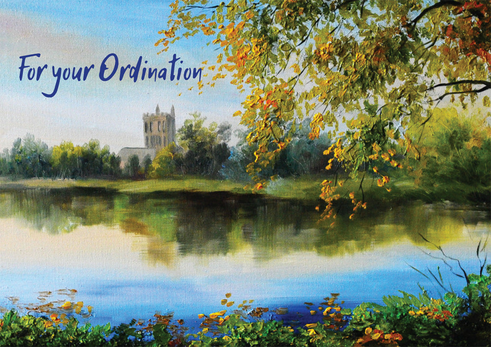 For Your Ordination - Church Landscape -  Standard CardFor Your Ordination - Church Landscape -  Standard Card