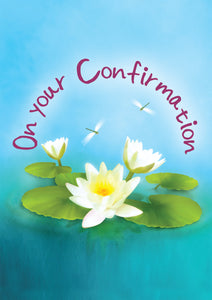 On Your Confirmation - Lillies -  Standard CardOn Your Confirmation - Lillies -  Standard Card