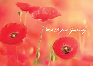 With Deepest Sympathy - PoppiesWith Deepest Sympathy - Poppies