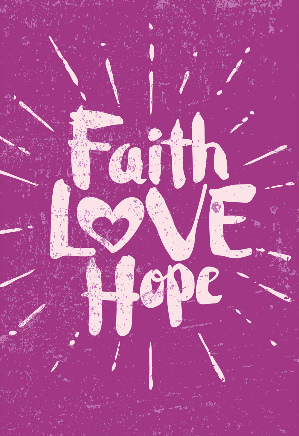 Faith Love Hope - PurpleFaith Love Hope - Purple
